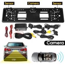 3в1 Камера за паркиране и парктроник в рамка за номер AT-BEC2
