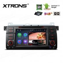 Навигация двоен дин за BMW E46 с Android 7.1 PP7746B , GPS, DVD, 7 инча