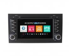 Навигация двоен дин Audi A4 с Android 8.1 AU0702A81, GPS, WiFi, DVD, 7 инча