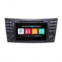 Навигация двоен дин Mercedes W209 W463 W219 W211 с Android 8.1 BZ0701A81, GPS, WiFi, DVD, 7 инча
