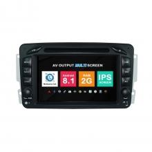 Навигация двоен дин Mercedes W203 W209 W639 с Android 8.1 BZ0702A81, GPS, WiFi, DVD, 7 инча