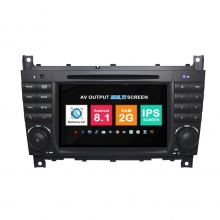 Навигация двоен дин Mercedes W203 W209 W219 с Android 8.1 BZ0704A81, GPS, WiFi, DVD, 7 инча