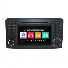 Навигация двоен дин Mercedes W164 X164 с Android 8.1 BZ0705A81, GPS, WiFi, DVD, 7 инча