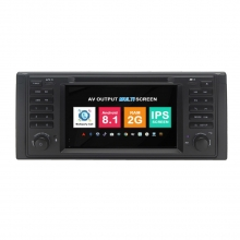 Навигация двоен дин BMW E39 E53 M5 с Android 8.1 BM0709A81, GPS, WiFi, DVD, 7 инча