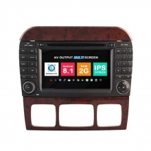 Навигация двоен дин Mercedes W220 W215 с Android 8.1 BZ0707A81, GPS, WiFi, DVD, 7 инча