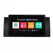 Навигация двоен дин BMW E39 E53 с Android 8.1 BM0921A81, GPS, WiFi, DVD, 9 инча