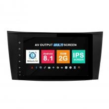 Навигация двоен дин Mercedes W209 W463 W219 W211 с Android 8.1 BZ0812A81, GPS, WiFi, DVD, 8 инча