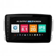 Навигация двоен дин Mercedes W203 W209 с Android 8.1 BZ0813A81, GPS, WiFi, DVD, 8 инча