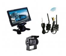 """Безжична система 7"""" монитор + IR камера за паркиране на камиони, кемпери AT C109M"""