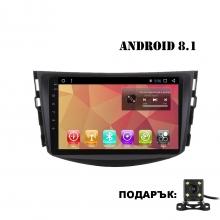 Двоен дин с навигация за Toyota RAV4 TY8102, Android 8.1, GPS, WiFi, 10.1 инча