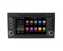 Навигация двоен дин Audi A4 с Android 10 AU0702A10, GPS, WiFi, DVD, 7 инча