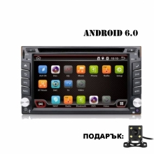 Универсална мултимедия двоен дин AT UA62DVD GPS, WiFi, Android 6.0, 6.2 инча