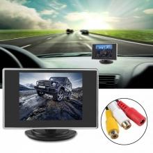 LCD монитор 3.5 инчов за връзка с камера за задно виждане с 2 входа