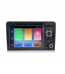 Мултимедийна навигация двоен дин за AUDI A3 А4461H GPS, ANDROID 10, WiFi, DVD, 7 инча