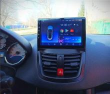 4-ядрена ATZ  навигация за Peugeot 207, Android 10, RAM 2GB, 16GB