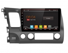 Навигация двоен дин за Honda Civic H51D0H, ANDROID 10, DVD, 10.1 инча