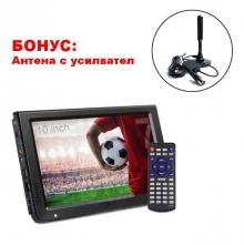 Портативен телевизор с цифров тунер DVB-T2 LEADSTAR D10 10.1 инча HDMI + БОНУС