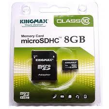 Micro SDHC карта KINGMAX 8GB