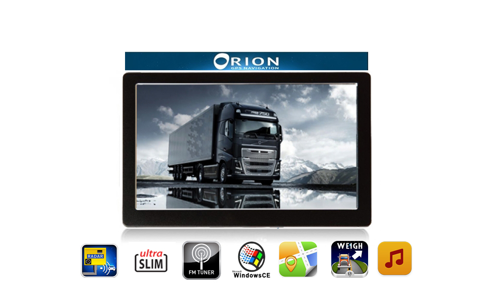 orion z100bt voiture camion gps satnav bluetooth avec cam ra de recul ebay. Black Bedroom Furniture Sets. Home Design Ideas